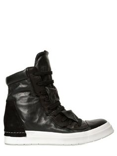 Cinzia Araia // Nappa Leather High Top Sneakers - Lyst