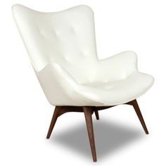 ethan home albury white faux leather chair with ottoman overstock