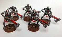 Paint Schemes, Color Schemes, Necron Warriors, Warrior Paint, Sci Fi Models, Bone Color, The Grim, Warhammer 40k, Tabletop