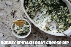 Bubbly Spinach Goat Cheese Dip