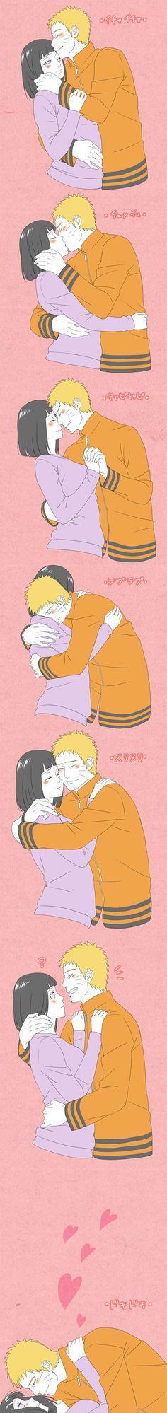 Sakura Jam, NARUTO, Hyuuga Hinata, Uzumaki Naruto, Husband And Wife, Kiss On The Lips