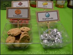 minecraft party snacks