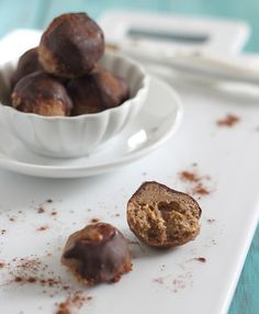 Coconut Almond Butter Dessert Bites - decadent (but healthy!) dessert splurge for Phase 3.