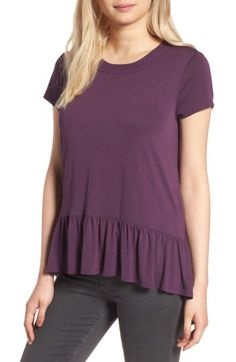 Chelsea28 Chelsea28 Ruffle Hem Tee available at #Nordstrom