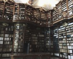 schwarzkopfnonne:  The library of Stift St. Florian  ...   vathir.com Slytherin Aesthetic, Harry Potter Aesthetic, Book Aesthetic, Aesthetic Pictures, My Academia, Old Libraries, Different Aesthetics, Dream Library, The Infernal Devices