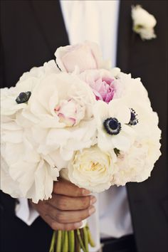 wedding bouquet - peonies and poppies :)