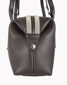 """Bag -      """"Athleisure"""" handbag in calfskin with two-tone jewel detail"""