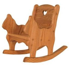 This Amish Handcrafted Child's Rocker has an adorable Cat Design on the sides plus a center heart cut out.