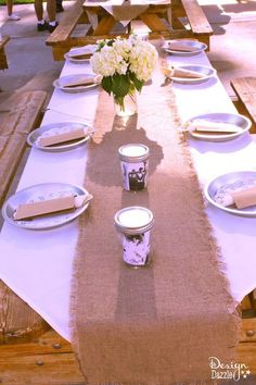 Simple western chic themed wedding rehearsal dinner