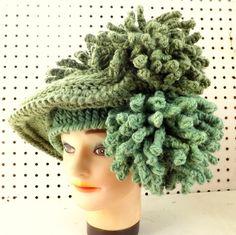 Hand Crochet Hat Womens Hat DERBY Kentucky от strawberrycouture