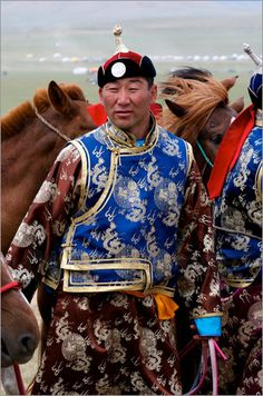 Mongolian Man in traditional clothing