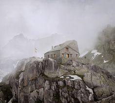 #DurischNolli _ Mountain Hut Albert-Heim, Realp, 2015 #Concorso #competition: 2015, 2nd prize  #architecture #mountain #archiviz #render #architecturecompettion #visualisation #architecturevisualisation