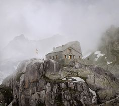 #DurischNolli _ Mountain Hut Albert-Heim, Realp, 2015 #Concorso #competition: 2015, 2nd prize  #architecture #mountain #archiviz #render #architecturecompettion #visualisation #architecturevisualisation