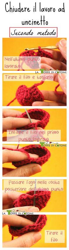 Secondo metodo per chiudere i lavori ad #uncinetto Second way to close your #crochet rounds