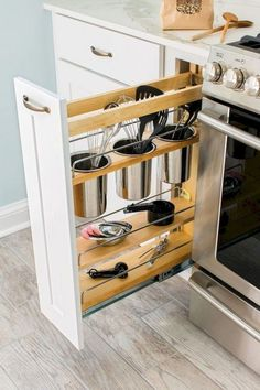 Creating the best smart kitchen storage is easier. Storage for your kitchen helps you to make your kitchen doesn't look messy so that you need it. However, when you create it, you have to know smart kitchen storage solution ideas… Continue Reading → Small Apartment Kitchen, Small Kitchen Storage, Kitchen Storage Solutions, Smart Kitchen, New Kitchen, Kitchen Decor, Kitchen Ideas, Kitchen Colors, Kitchen Small
