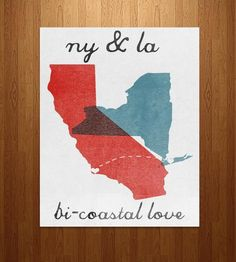 Bi-Coastal Love Art Print