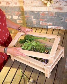 Herb Drying Rack Lets You Naturally Dry Herbs at the Peak of Flavor