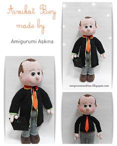 Ravelry: Amigurumi Lawyer pattern by Tiny Mini Design Baba, Crochet Dolls, Lawyer, Ravelry, Crochet Patterns, English, Embroidery, Mini, Design