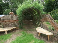 living willow outdoor structure - Recherche Google:
