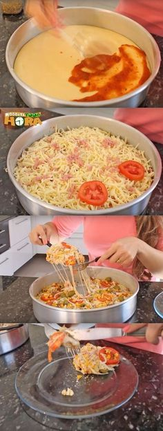 Pizzateig In Mixer - Pizzas - Pizza Mama, Organic Recipes, Ethnic Recipes, Salty Foods, Cooking Recipes, Healthy Recipes, Portuguese Recipes, Mixer, Food Inspiration