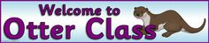 Otter-themed classroom signs and labels pack (SB522) - SparkleBox