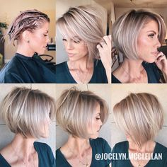2020 Is The Year Of Beautiful And Changeable Pixie & Bob Hairstyles - Frisuren Hair Pixie Bob Hairstyles, Haircuts For Fine Hair, Short Bob Haircuts, Cool Hairstyles, Bob Haircut Fine Hair, Back Of Bob Haircut, Chic Haircut, Bob Haircuts For Women, Bob Hairstyles For Fine Hair
