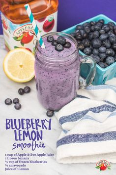 There's no better time than #NationalBlueberryMonth to slurp up a favorite summer flavor with this blue-tiful smoothie.