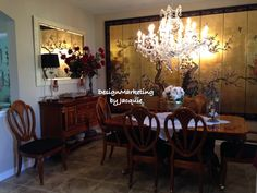 Elegant Dining Room; DesignMarketing by Jacquie
