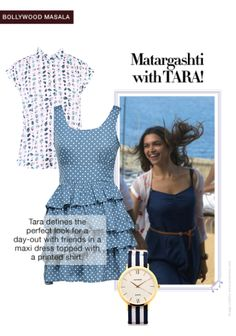 Exclusive Look by Malavika Bollywood Masala, White Shirts, Vip, Blue Dresses, That Look, Scrapbook, Check, Prints, Stuff To Buy