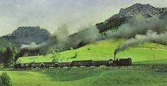Vintage Travel, Austria, Train, History, Historia, Strollers