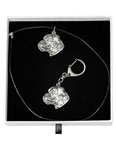 NEW, Boxer (uncropped¬ cut), dog keyring and necklace in casket, ELEGANCE set, limited edition, ArtDog -- You can find more details by visiting the image link.