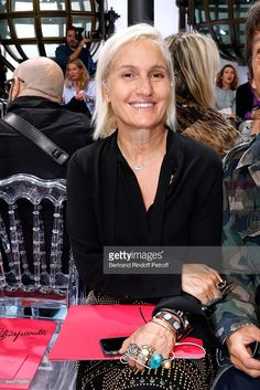 Stylist Maria Grazia Chiuri attends the Schiaparelli Haute Couture Fall/Winter 2016-2017 show as part of Paris Fashion Week on July 4, 2016 in Paris, France.