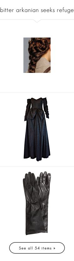 """bitter arkanian seeks refuge"" by starnahelena ❤ liked on Polyvore featuring dresses, gowns, reign, long dresses, long blue evening dress, blue dress, ceil chapman dress, long blue dress, accessories and gloves"
