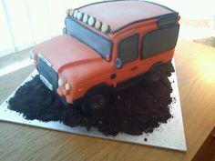 Orange Landrover Cake