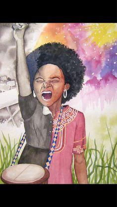 Image via We Heart It #love #pride #diversity #blackqueen #blackhistorymonth