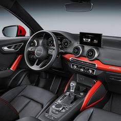 Audi S-Line : le nouveau dans sa version sport à Genève - Photo Audi Q2 Interior, Motor A Gasolina, Car Ui, Diesel, Audi Rs6, Off Road, Audi Quattro, Used Cars, Cars And Motorcycles