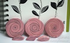 sellos hechos a mano - hand carved stamps  flores