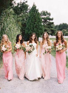 Amsale Bridesmaid Dresses | Southern Weddings V7: A Bushel and a Peck - Southern Weddings Magazine