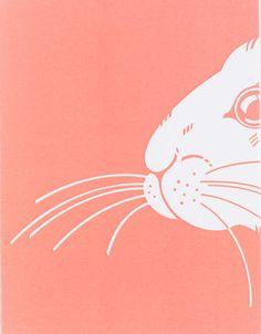 easter card bunny from etsy seller seahorsebendpress