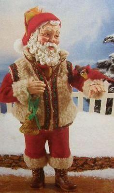 7bbf916705 CHRISTMAS CHORUS SANTA New n Box w tag POSSIBLE DREAMS Clothtique Cardinal  Birds Father Xmas