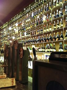 Always great to see craft beer making its way into bars across the world: The Open Baladin craft beer bar in Trastevere. Rome, Italy.