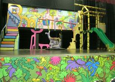 seussical sets ideas - Jungle of Nool, love the swing and slide for the Wickersham brothers