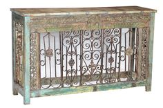 Original Carvings and Ironwork with Reclaimed Teak Wood Console Wood, Reclaimed Wood, Interior Inspiration, Vintage Industrial Furniture, Furniture, Interior, Teak Wood, Home Decor, Wrought Iron