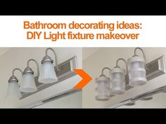 Small bathroom ideas: Looking for a quick #DIY way to #renovate your #bathroom? Upgrade the lighting with ENERGY  STAR certified LED light bulbs! Find out more at www.energystar.gov/LED #ENERGYSTARDIY