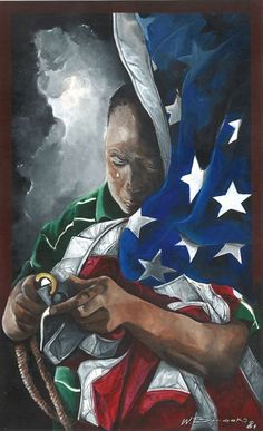 Artist, Wendell Brooks has captured the tears of joy behind another masterpiece. Thanks to all of the brave military men and women who have kept our freedom.
