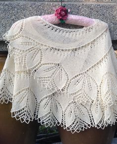 Free Knitting Pattern for Begonia Swirl Shawl - This stunning lace swirl shawl by Carfield Ma leaves me practically speechless. The pictured project is by jane510.