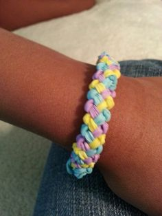 Rainbow loom basketweave bracelet 2