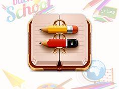 Diary Icon by Tanveer Kayani, via Behance
