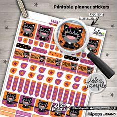 Printable Planner Stickers Planner Stickers by LetsPaperUp on Etsy