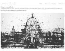 Bespoke artist web design for Lewis Scott